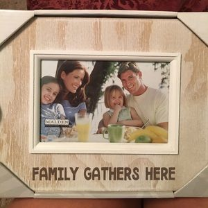 Brand new family gathers here picture frame